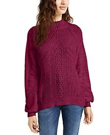 Juniors' Balloon-Sleeve Sweater, Created For Macy's