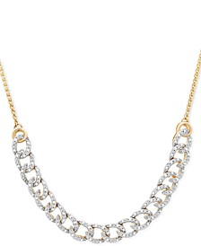 Diamond Curb-Link Bolo Necklace (1/4 ct. t.w.) in 10k Gold, Created for Macy's