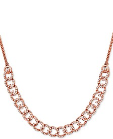 Wrapped in Love™ Diamond Curb-Link Bolo Necklace (1 ct. t.w.) in 10k Rose Gold, Created For Macy's