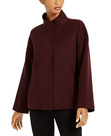 Funnel-Neck Snap-Front Jacket
