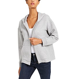 Hooded Zip-Front Top, Created For Macy's