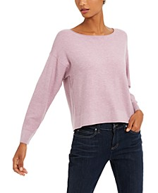 Jewel-Neck Textured Top
