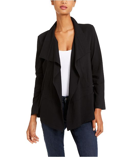 Eileen Fisher Draped Open Jacket, Created for Macy's