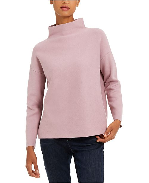 Eileen Fisher Organic Cotton Funnel-Neck Top, Created for Macy's