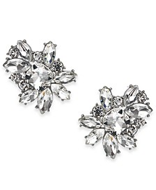 INC Silver-Tone Crystal Cluster Stud Earrings, Created for Macy's