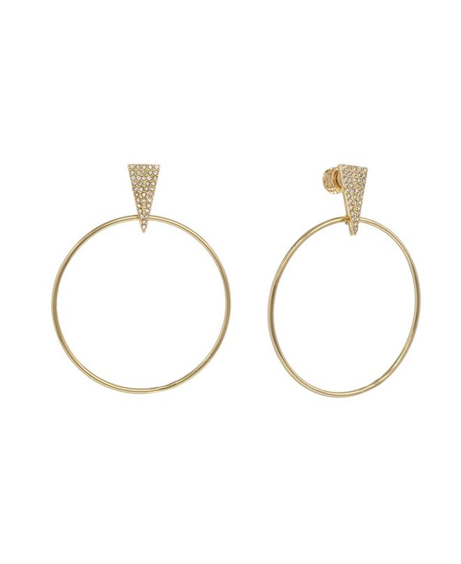 Christian Siriano New York Christian Siriano Gold Tone Front Hoop Earrings