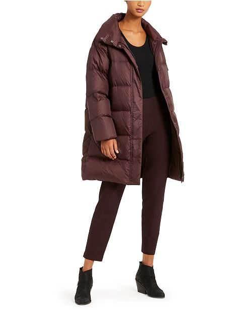 Eileen Fisher Funnel-Neck Puffer Coat, Regular & Petite