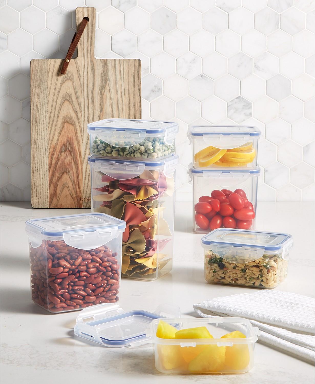 Easy Essentials Rectangular 14-Pc. Food Storage Container Set