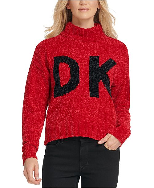 DKNY Graphic Mock-Neck Sweater