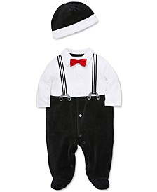 Baby Boys 2-Pc. Hat & Footed Coverall Set