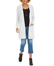 Chenille Open Front Long Cardigan, Created for Macy's