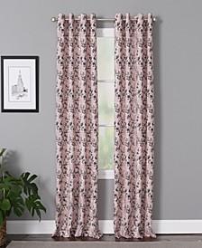 "Vanessa 50"" x 84"" Floral Curtain Panel"