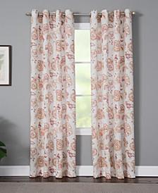 "Sabrina 50"" x 63"" Floral Curtain Panel"