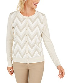 Zigzag-Print Cardigan, Created For Macy's