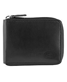 Manchester Collection Men's RFID Secure Zippered Wallet with Removable Passcase