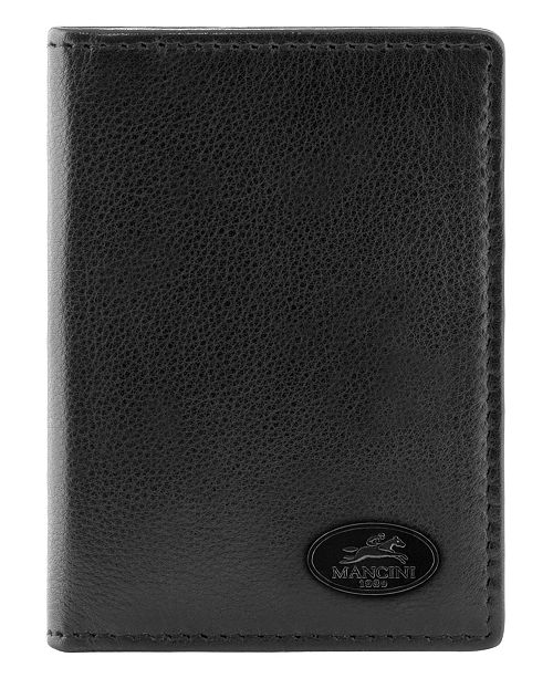 Mancini Manchester Collection Men's RFID Secure Identification Card Wallet