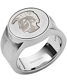 Men's Mohican Head Stainless Steel Signet Ring