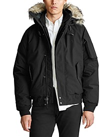 Men's Faux-Fur-Trim Down Jacket