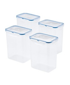 Lock n Lock Easy Essentials™ 7-Cup Rectangular Food Storage Container, Set of 4