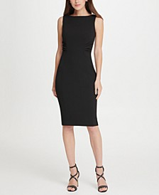 Whisker Pleat Sheath Dress
