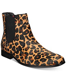 INC Men's Thames Cheetah Chelsea Boots, Created for Macy's