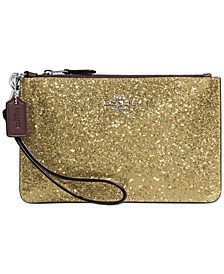 Glitter Leather Small Wristlet
