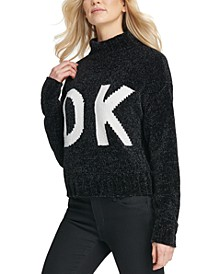 Graphic Mock-Neck Sweater