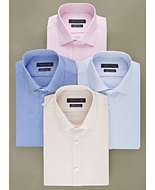 Men's Athletic Fit Performance Stretch TH Flex Collar Solid Dress Shirt
