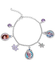 Children's Frozen Character Charm Bracelet in Sterling Silver