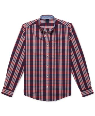 Tommy Hilfiger Shirt Mens Long Sleeve Button Up Stretch Top Flag Logo Casual New