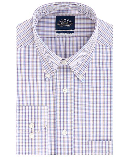 Eagle Men's Classic-Fit Stretch Collar Dress Shirt