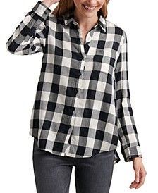 Classic One-Pocket Plaid Shirt