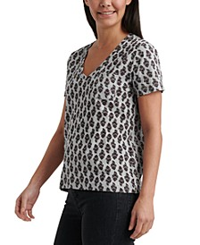V-Neck Printed T-Shirt