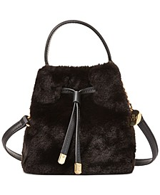 Faux Fur Debby Drawstring Bag