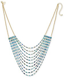 "Gold-Tone Baguette Multi-Row Necklace, 18"" + 3"" extender, Created For Macy's"