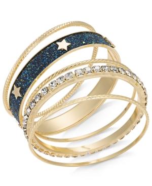 Thalia Sodi Gold-Tone 7-Pc. Sest Crystal Star Bangle Bracelets, Created For Macy's