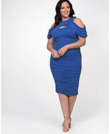 Women's Plus Size Bianca Ruched Dress