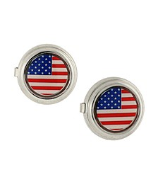 Jewelry Silver-Tone Flag Decal Button Covers
