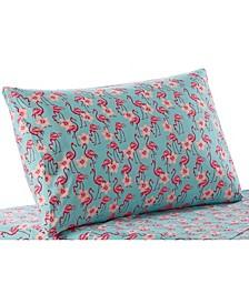 Seaside Resort Flamingo Flowers Pillowcase Pairs