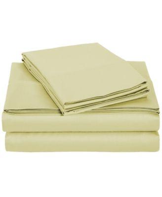 University 4 Piece Tan Solid Twin Xl Sheet Set