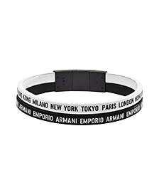 Emporio Women's Black Stainless Steel Multi-Strand Bracelet