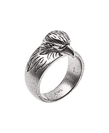 Emporio Men's Eagle Head Stainless Steel Cocktail Ring