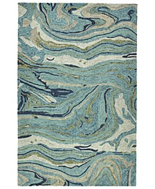 """Marble MBL03-91 Teal 3'6"""" x 5'6"""" Area Rug"""