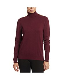 Solid Turtleneck with Zipper Detail