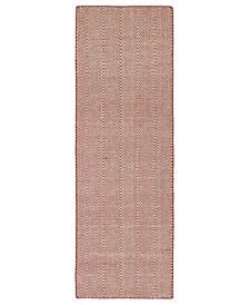 Ziggy ZIG01-99 Coral 2' x 6' Runner Rug