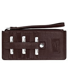 Casablanca Collection RFID Secure Ladies Wristlet/Wallet