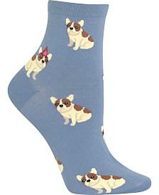 Hot Sox Women's Birthday Frenchie Anklet Socks