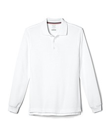 Big Boys Long Sleeve Pique Polo Shirt