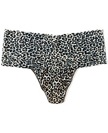 Women's Plus Size One Size Leopard-Print Thong 2X1924X