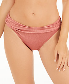 Kenneth Cole Day Glow Ruched Hipster Bikini Bottoms